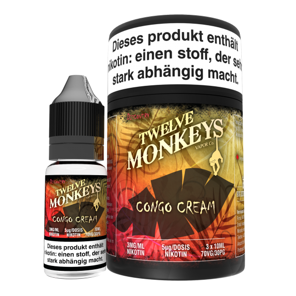 Twelve Monkeys, Congo Cream, 3x10ml